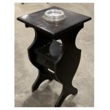 """Wooden Ashtray Side Table measures 13 1/2"""" x 13"""