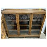 "Wooden Display Cabinet measures 60"" x 13"" x 54"""