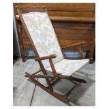 """Floral upholstered rocking chair, seat is at 15"""","""