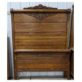 """Wooden full size bed frame, approximately 55"""","""