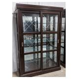 Wooden/glass shelving display unit, glass
