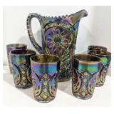 Vintage Imperial Amethyst Carnival Glass Smoke