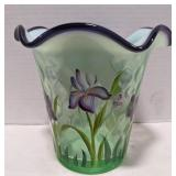 Fenton marked vase. Stands 6.5 inches tall.