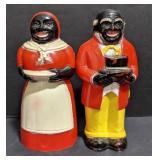 Black Americana plastic salt and pepper shaker