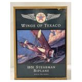 Texaco  wings of Texaco 1931 stearman biplane