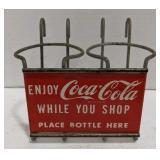 Vintage Coca Cola Metal Shopping Cart Drink