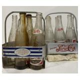 Vintage Pepsi-cola bottles and carriers