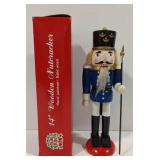 """14"""" Hand Painted Wooden Nutcracker With Box"""