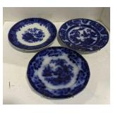 Lot of Flow Blue China Plates