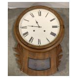 "Wooden Wall Clock measures 15"" x 21"""
