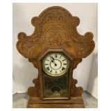 Wooden Waterbury Clock Co. Mantel Clock measures
