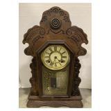 Wooden Trademark Time Mantel Clock measures 14
