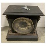 """Wooden Ingraham Mantel Clock measures 10 1/2"""" x"""