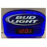 "Neon Bud Light and Digital Clock measures 20 1/2"""