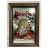 "Anheuser Busch Mirror Advertising measures 9"" x"