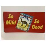"""So Mild So Good"" Camel Aluminum Advertising S"