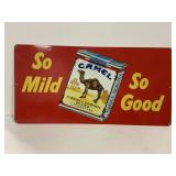 """So Mild So Good"" Camel Aluminum Advertising Sign"