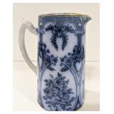 S Johnson Ltd Burslem Britannia Pottery blue flow