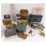 Lot of vintage drug store items and packing.