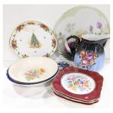 Misc lot of china dishes.