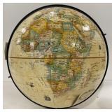 Vintage globe with dent