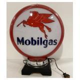 "Reproduction plastic Mobilgas globe approx 14"""