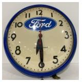 """Round 12"""" ford clock *untested"""