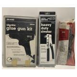 Lot of Riveter, Glue Gun, and more