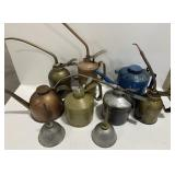 Lot of Miscellaneous Oil Cans
