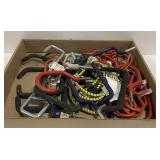 Lot of Ladder Hooks and Bungee Cords
