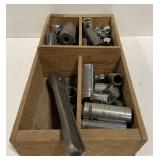 Lot of Socket Heads and Wrench