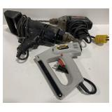Lot of Drills and Stapler