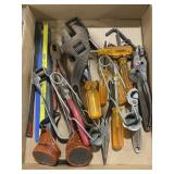 Lot of various tools including pliers, wrenches