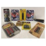 Various drill bits, nail set and more