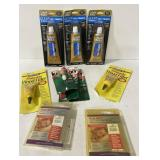 Lot with liquid nails, wood filler and more