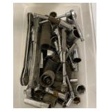 Various socket wrenches including snap on