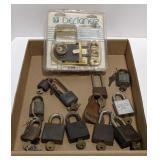 Vintage Key Padlocks With Keys & Brand New Dead