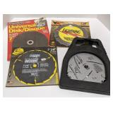 """New 7"""" Universal Grinding Disk and New Saw Blades"""