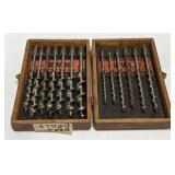 Vintage Irwin Drill Set In Wood Case