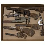 Flat of Vtg Pipe Wrenches