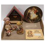 Anri Wooden Figurines and Biblical Plate