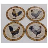 Rooster Breed Plates