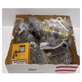 Box of Door Knobs, Handles, and Other Home