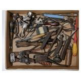 Flat of Vtg Tools. Pliers, Side Cutters, Ice