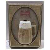 Budweiser Beer Mug Light Up Sign. 15x20