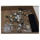Flat of various watches, bracelet s,and more