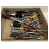Lot of Nut Driver Screwdrivers  and Rubbermaid