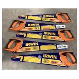 Lot of 5 Irwin Hand Saws *bidding per item*