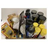 Lot of Foam Sealers, Lights, and more