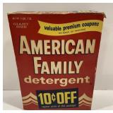 American Family Detergent Giant Size Box *Full*